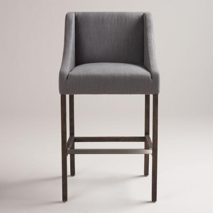 Gray Hayden Barstool Upholstered