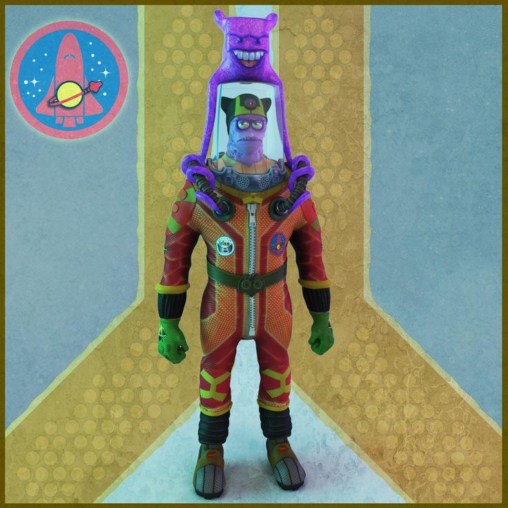 #Astronaut #Zbrush  #space suit #cosmonaut #digital 3d #space #character #cartoon