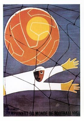 World Cup 1954 Switzerland Official Poster