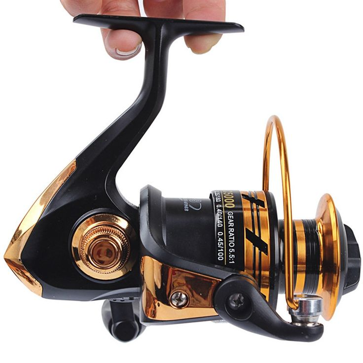 HOT SALE! Spinning Reel fishing reel 2000/3000/4000/5000 5.5:1 Ratio spinning reel casting fishing reel lure tackle line K8356
