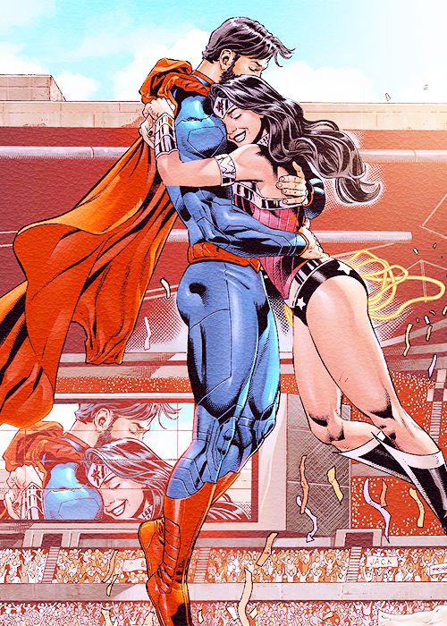 "dickraisin: ""SUPERMAN / MUJER MARAVILLA # 12"""
