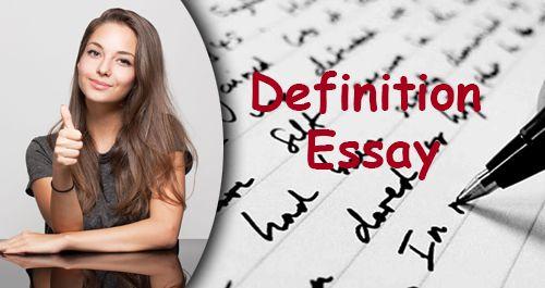 Help writing definition essay