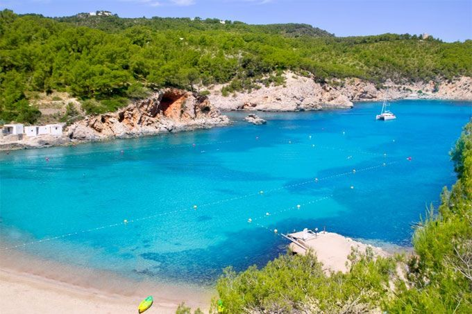 Playa San Miguel, Ibiza, Spain - Admittedly, there are parts of the White Isle that have been somewhat spoilt, but Ibiza hides away several secret beaches that rank among the best, not only in the Med, but on the planet. Make mine a San Miguel!