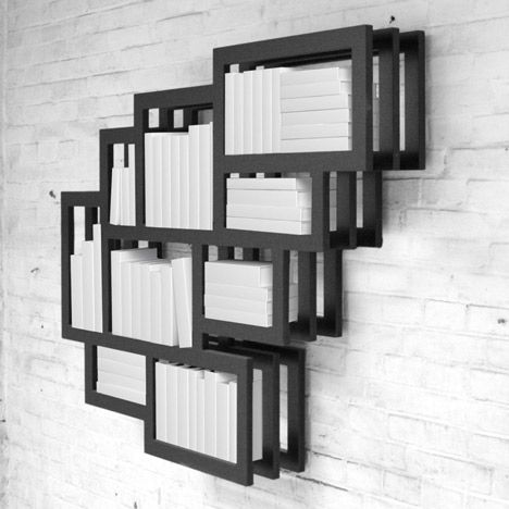 Frames Wall by Gerard de HoopDe Hoop, Gerard De, Bookcas, Wall Shelves, Wall Shelf, Frames Bookshelves, Frames Wall, Pictures Frames, Design