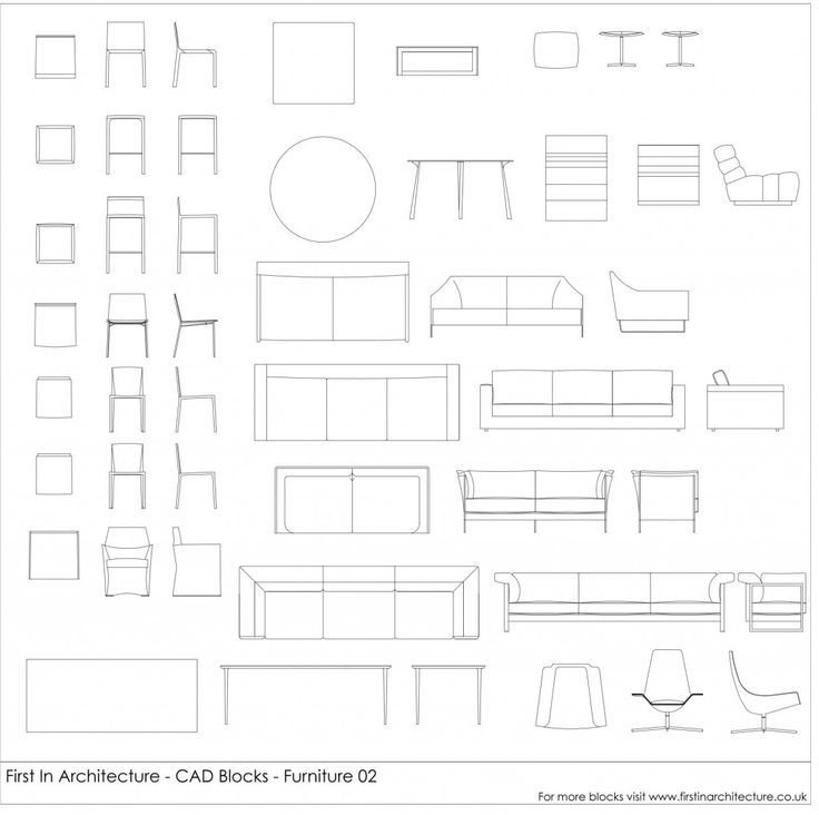 Check out our cad blocks - FIA Furniture Blocks 02!