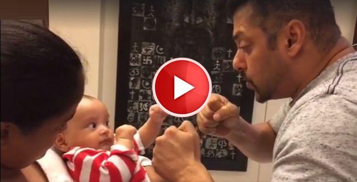 Salman Khan playing with his adorable nephew... Amazing Video - ReviewPk.Com  - http://goo.gl/BCjK3g adorable, amazing, khan, nephew, playing, salman, Video #Entertainment