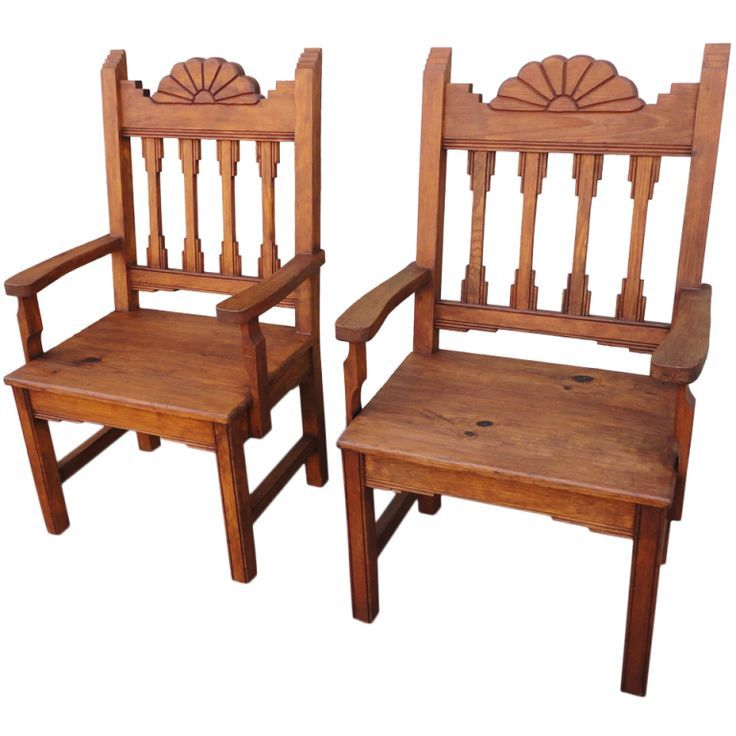 Exceptional Pair Of New Mexico Hand Made Chairs | From A Unique Collection Of .