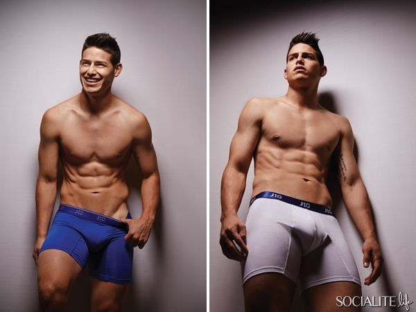 Real Madrid's James Rodriguez Shows Off His Amazing Body And His New J10 Underwear Line