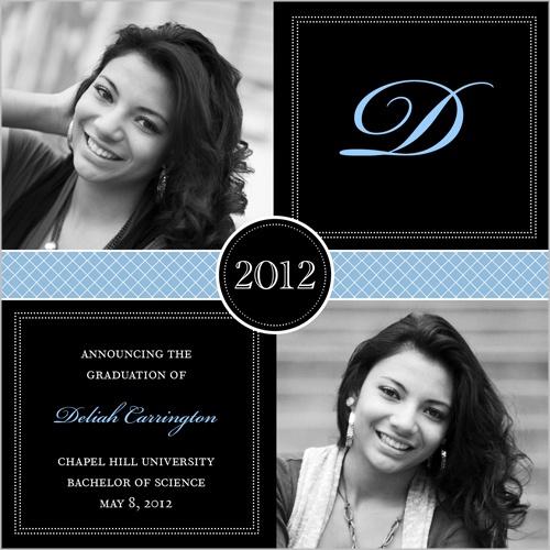 Blue Letter Graduation Announcement