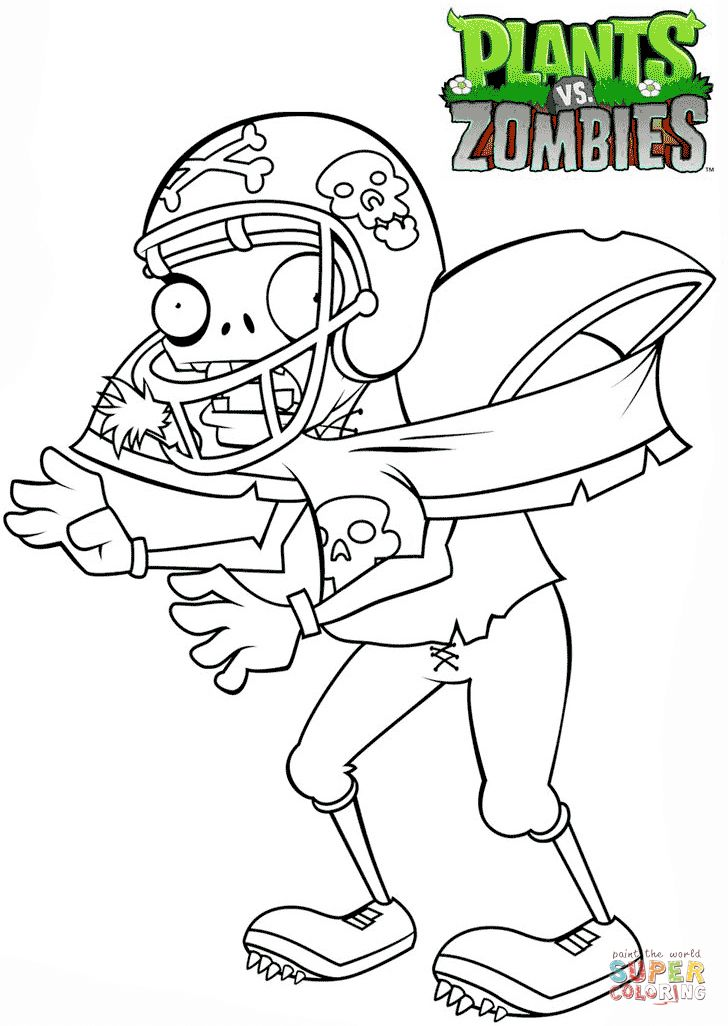 79 best halloween rf images on pinterest plants vs for Free zombie coloring pages