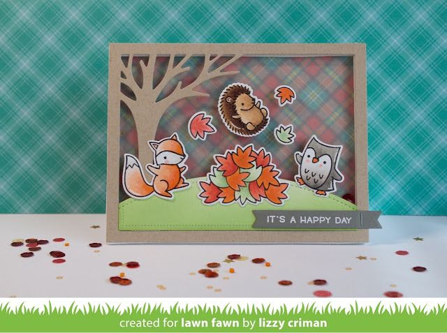 Lawn Fawn Video {9.6.16} A Jump for Joy Shaker Card by Lizzy! | the Lawn Fawn blog | Bloglovin'