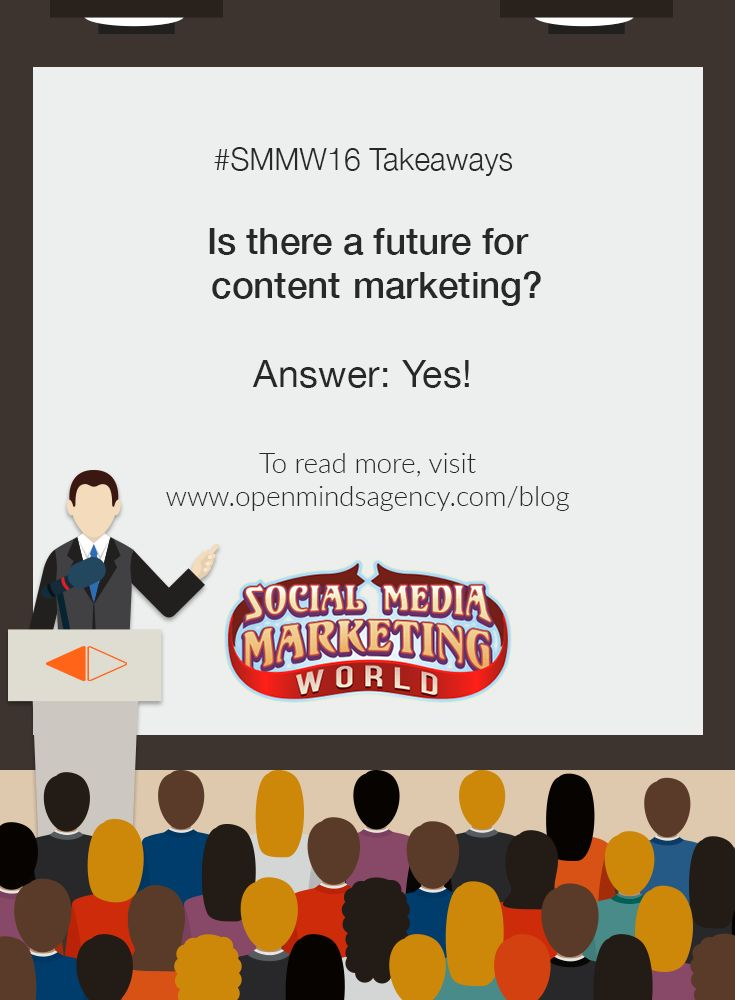 10 Social Media Marketing Questions Answered by Experts: SMMW16 Takeaways Question #4: Is there a future for content marketing? Answer: Yes To read more, [Click on Image] #omagency #smmw16 #socialmedia #marketing