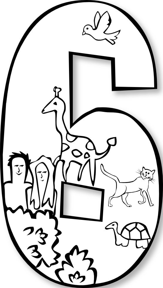 Creation Day 6 Number For Future Reference Find This Pin And More On Bible Coloring Pages