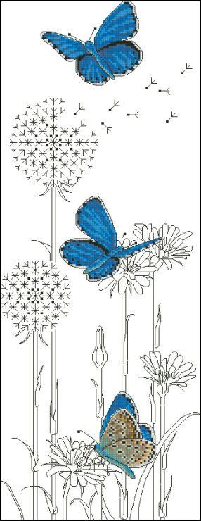Gallery.ru / Фото #8 - Ajisai Designs - Adonis Blue Butterflies - tymannost