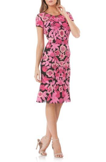 fe686b2e Women's Js Collections Floral Soutache Cocktail Dress | Dresses ...