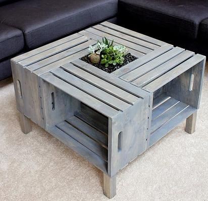 Kaila's Place   DIY Crate Coffee Table
