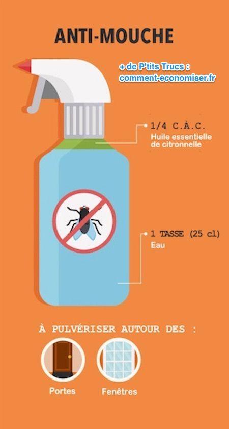 Le répulsif naturel contre les mouches à l'huile essentielle de citron