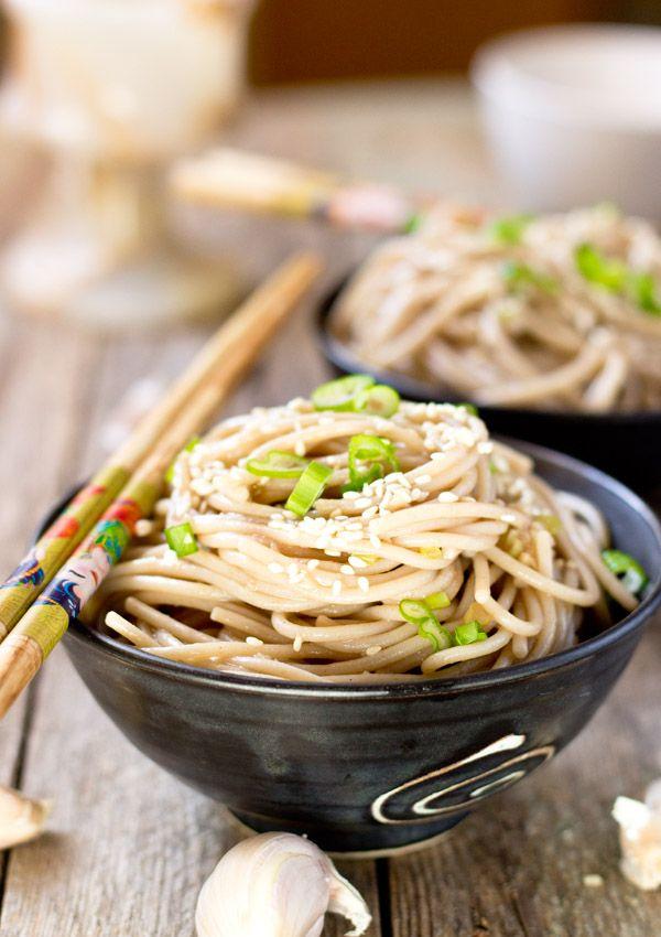 Garlic Sesame Noodle Salad — Light Orange Bean