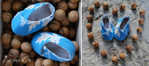 Petits pieds kimono Cute handmade baby shoes by Atelier Faggi Italy