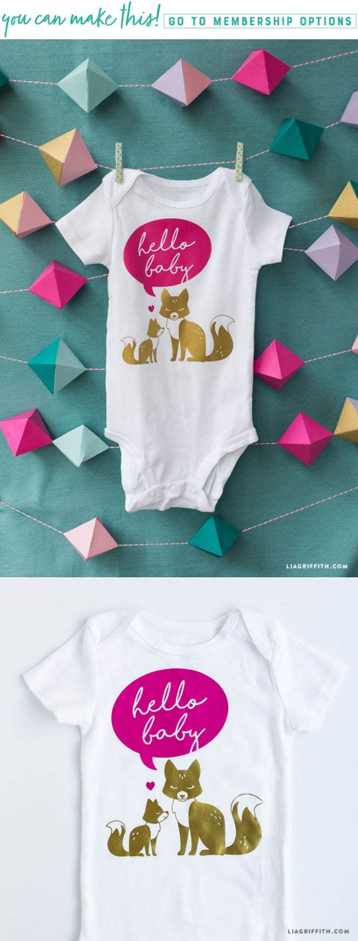 Hey Baby! 👶❤️ Welcome your little one to the world with this adorable hello baby onesie. Crafting this project is as easy as ABC. We've listed out everything you need here https://liagriffith.com/hello-baby-onesie/ * * * #baby #babies #babyshower #babyshowergifts #babyshowergifts #svg #onesie #onesies #diy #diyidea #diyideas #diycraft #diycrafts #diyinspiration #diyproject #diyprojects #authenticlia #madewithlia #ironon #babyclothes