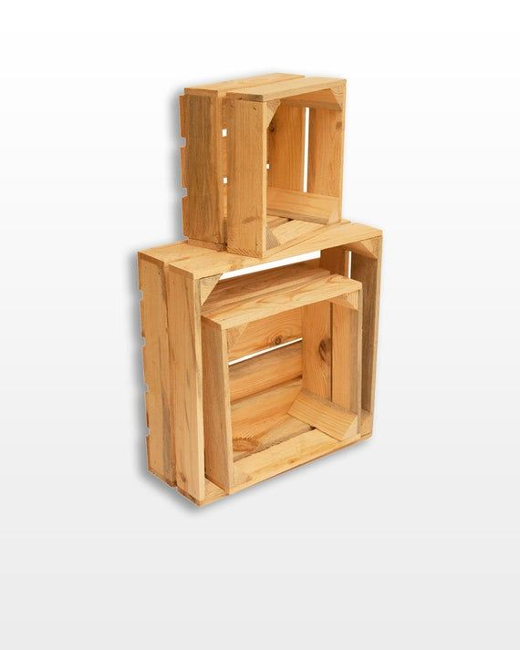 unfinished wood box srustic wooden crates set Wooden basket Wedding wooden box c…  – Products
