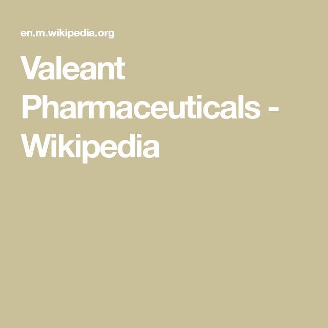 Valeant Pharmaceuticals - Wikipedia