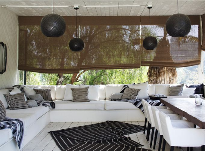 Nate berkus in his los angeles home rue white outdoor for Outdoor furniture los angeles