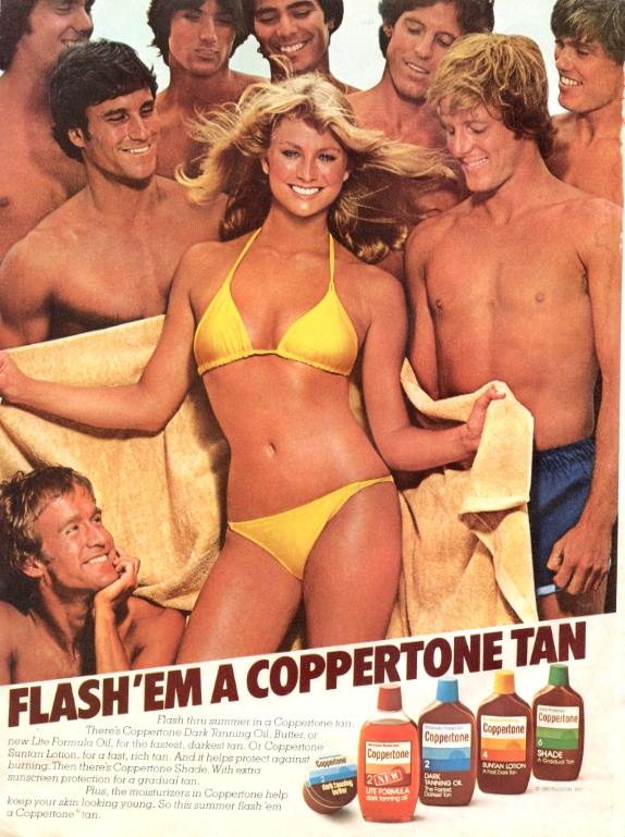 Coppertone Magazine Ad from 1980