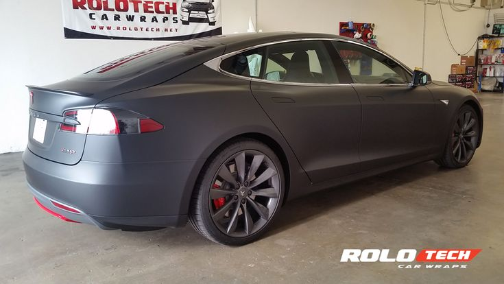 Tesla Model S P90D matte black full wrap - rolotech