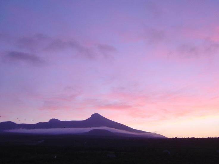 夕暮れの駒ヶ岳