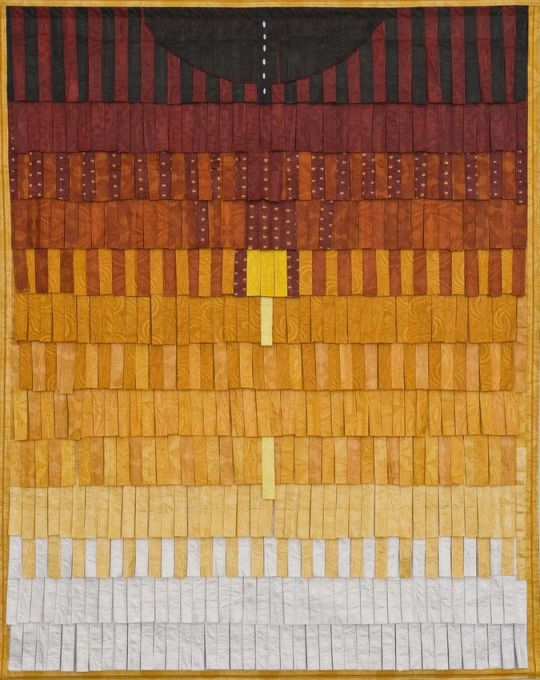 Abdoulaye Konate Composition no 18 2014-2015 Textile 85 x 56 inches