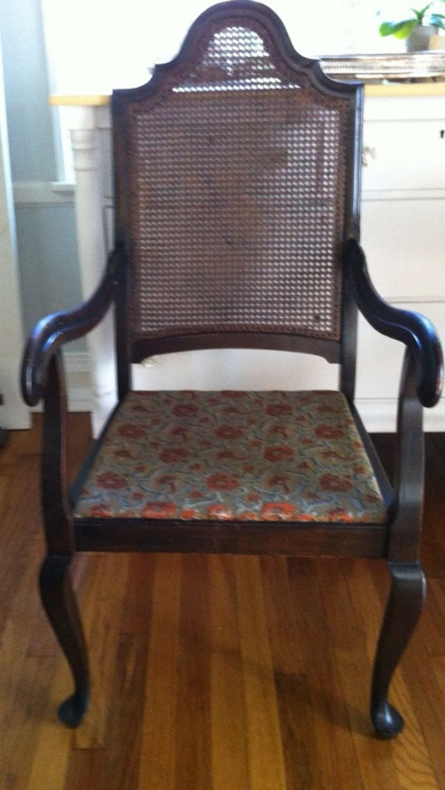 Vintage caned chair