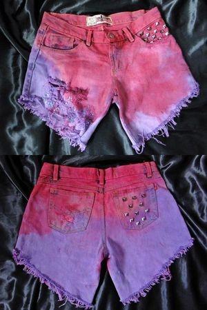Shorts Jeans Lilas/Roxo R$55,00. - Tamanhos 36 a 44 (+).