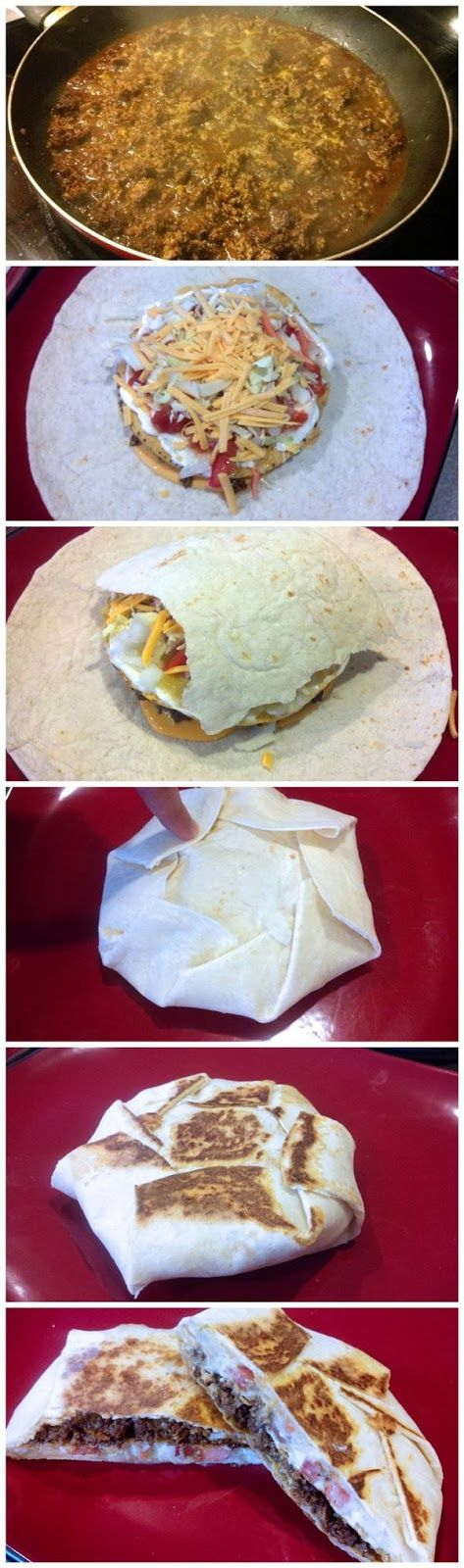 Homemade Crunchwrap Supreme Recipe! OMG Daniel and I have been wanting to makes these!