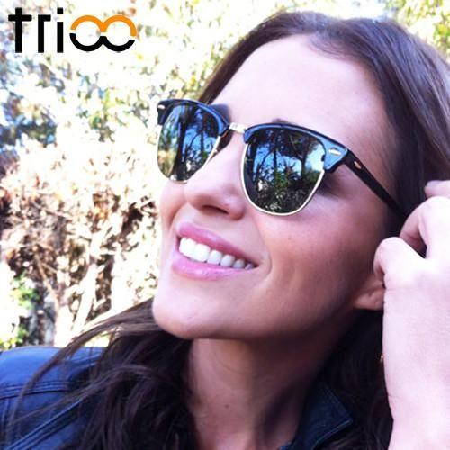 TRIOO Classic Vintage Polarized Sunglasses Women Brand Designer Sun Glasses For Women Retro Semi Rimless Oculos Shades Female  #swag #instalike #beauty #dress #fashion #streetstyle #ootd #iwant #sweet #pretty