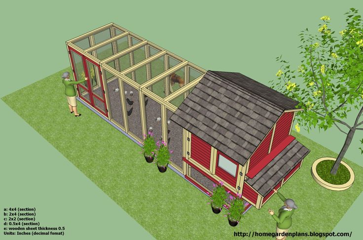 Large chicken coop plans woodworking projects plans for Large chicken coop ideas