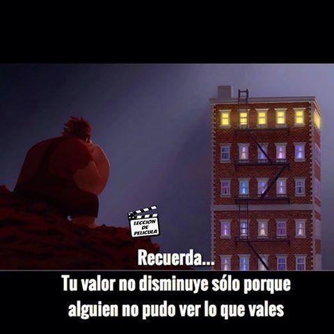 Ralph el Demoledor (Wreck-It Ralph, 2012)  #lecciondepelicula #pelicula #cine #moraleja #movie #frase #enseñanza #aprendizaje #motivacion #9gag #instagram #06jun