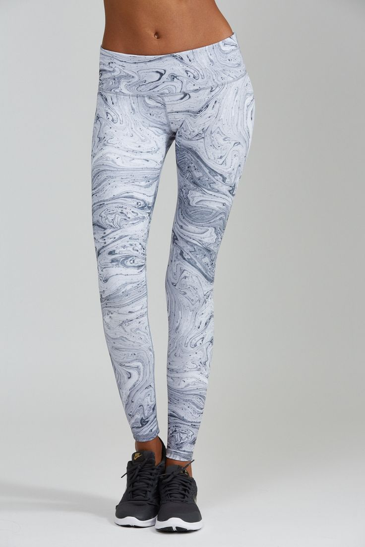 Marble Print leggings are white hot. Sophisticated, stylish and sexy this print will turn heads. A wide flattering waistband will slim and tuck. Each piece is unique in the all over print so you are g