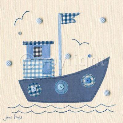 Patchwork Boat Lámina