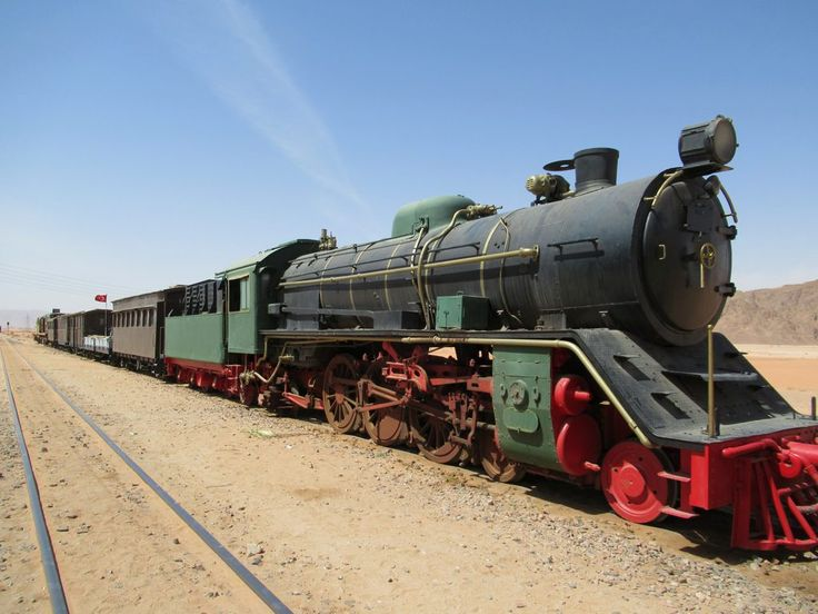 A section of the former Hejaz Railway from Damascus to Medina has been revived as a tourist attraction at Wadi Rum, Jordan.
