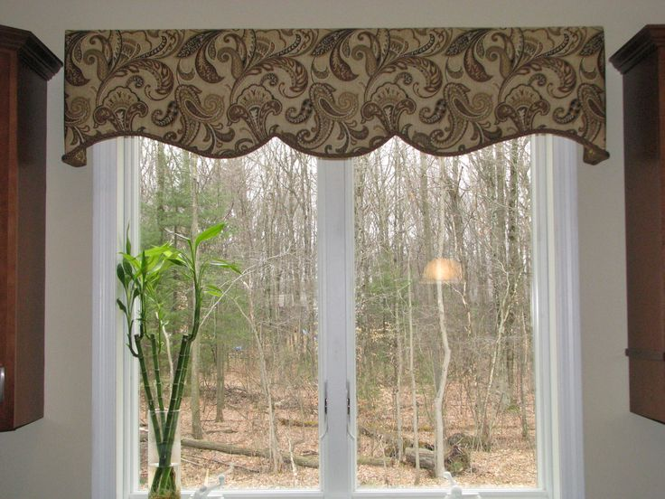 Window valances turquoise valance window valance scalloped valance decorative valance window - Kitchen valance patterns ...