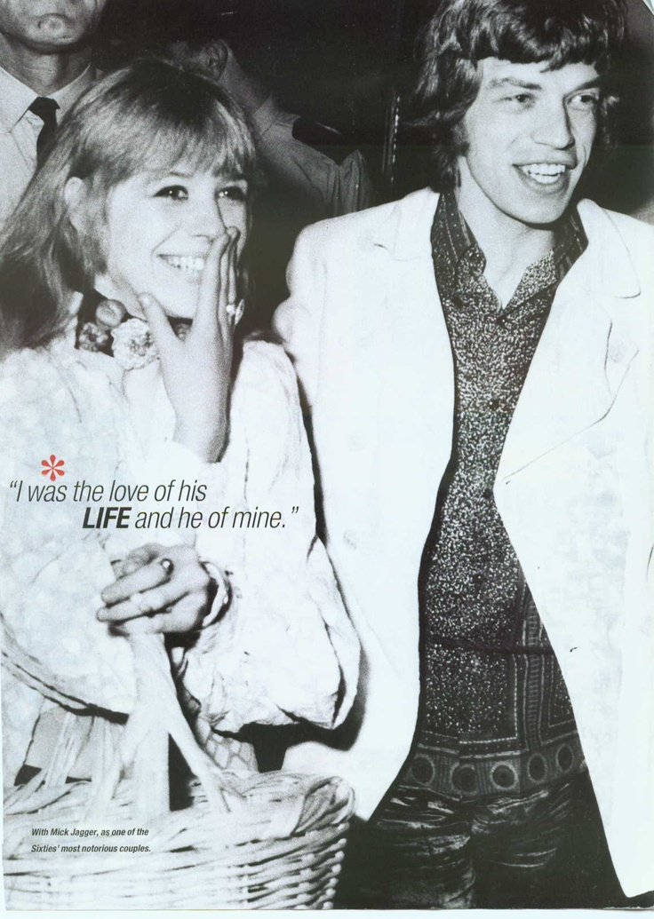mick jagger and marianne faithful relationship
