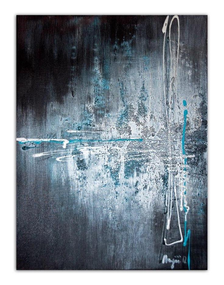 Acrylic on 18x24 canvas using Glass Bead Gel