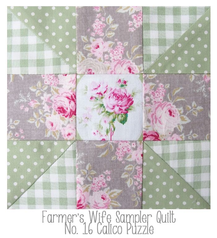 Farmers Wife No 16 Calico Puzzle