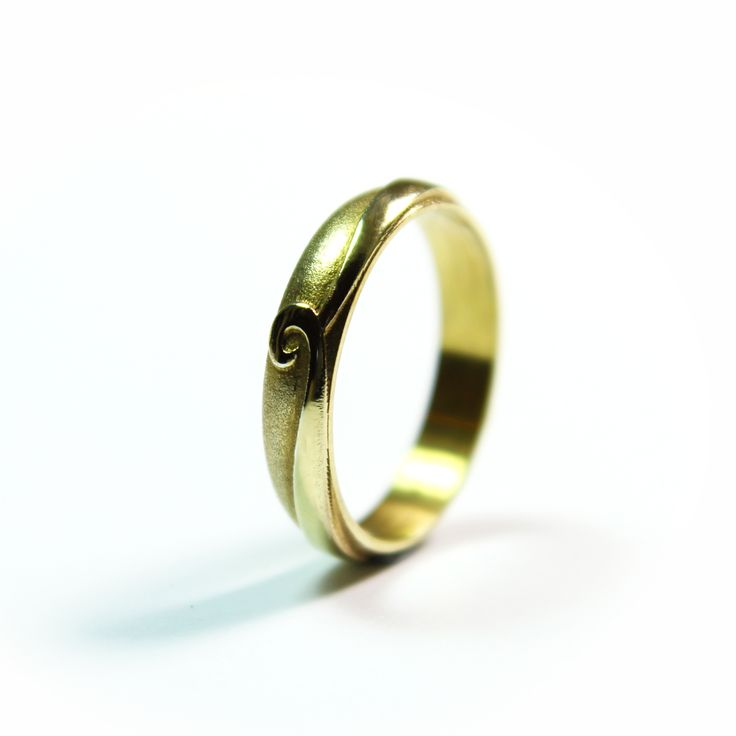 Carved spiral wedding ring..... inspired by La Tene carving...