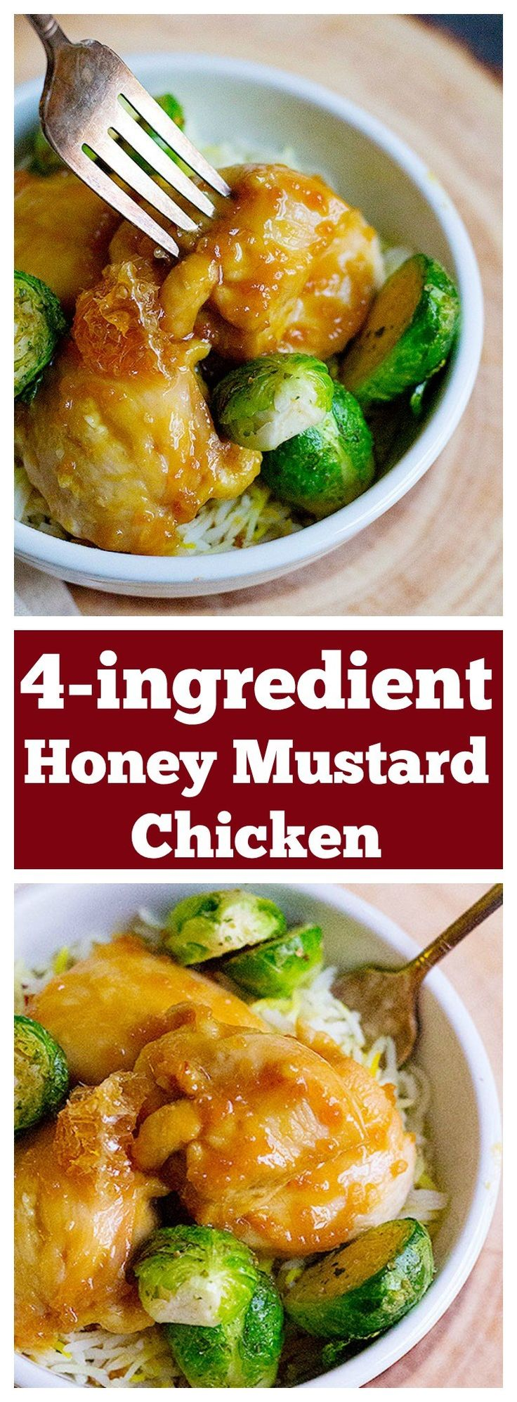 4-ingredient baked honey mustard chicken is so simple to make and much better than take out. Make this all time favorite dish at home.