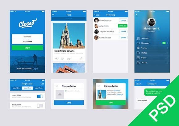 Free UI set for app design