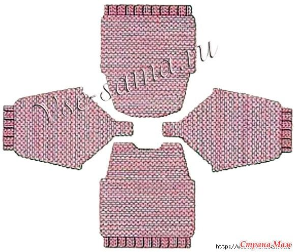 В одном из вязальных сообществ я увидела пост о детском свитере, связанном именно таким методом.