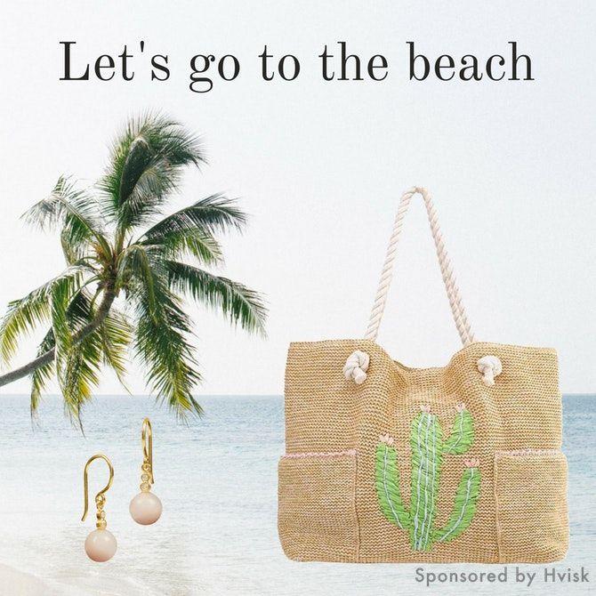 Styling by johanneappel - Hvisk Stylist Community #hvisk #hviskstylist #hviskjewellery #fashion #outfit #jewellery #jewelry #johanneappel #summer #beach #beachbag #earrings #pink #palmtrees #travel