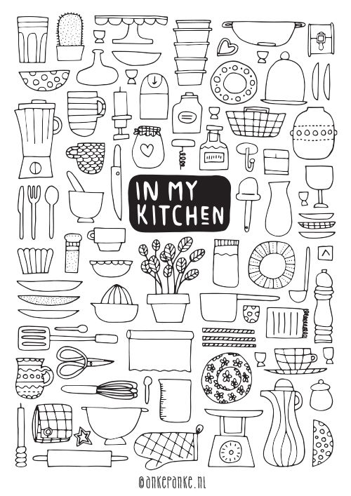 In my kitchen // Available as poster at http://www.ankepankesshop.nl/en